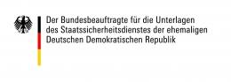 Logo: Bundesbeauftragter für die Unterlagen der Stasi der ehemaligen DDR (BStU)